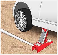Place the Jack and Lift the Vehicle