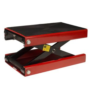1100 LB Wide Deck Motorcycle Center Scissor Lift Jack Hoist Stand Bikes ATVs