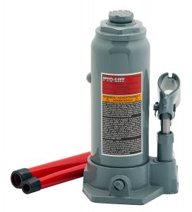 Pro-Lift B-006D Grey Hydraulic Bottle Jack- 6 Ton Capacity